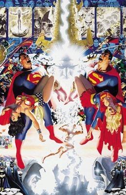 L'illustrazione usata per l'edizione del cofanetto dedicato al ventesimo anniversario di Crisi sulle Terre Infinite disegnata da Alex Ross.