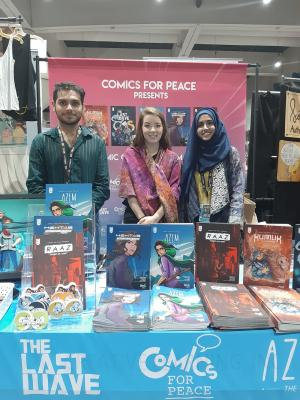 Lo stand di Comics for Peace