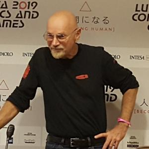 Jim Starlin al Press Cafè di Lucca Comics & Games 2019.