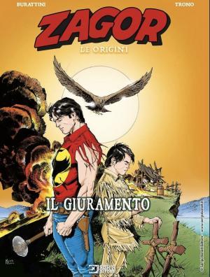 La copertina di <i>Zagor. Le Orgini - Il giuramento</i>, disegnata da Michele Rubini