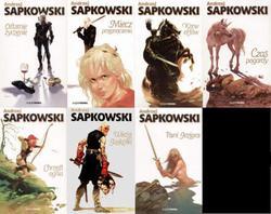 Le copertine originali delle opere di Andrzej Sapkowski su Geralt di Rivia