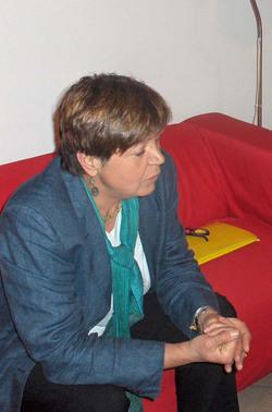 Silvana De Mari nel corso dell'intervista