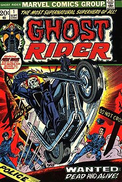 Ghost Rider N.1 (Sett., 1973). Copertina di Gil Kane e Joe Sinnott.