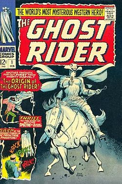 Ghost Rider #1, cover di Dick Ayers