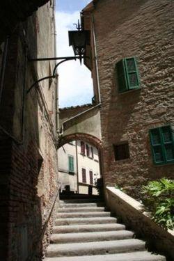 Particolare del centro storico di Montepulciano.