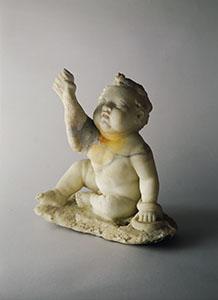 Ercole bambino con serpente - Marmo bianco, prima metà I sec. d.C. - Pompei, Casa di D. Octavius Quartio - Soprintendenza Archeologica di Pompei, inv. 2932