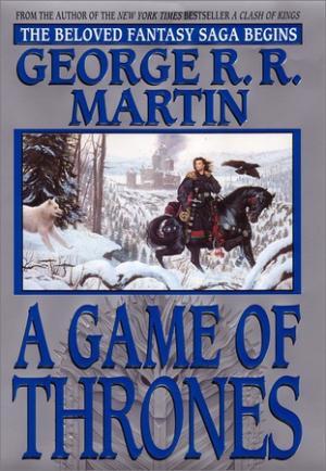 La copertina dell'edizione rilegata di A Game of Thrones pubblicata nel 2002 da Bantam