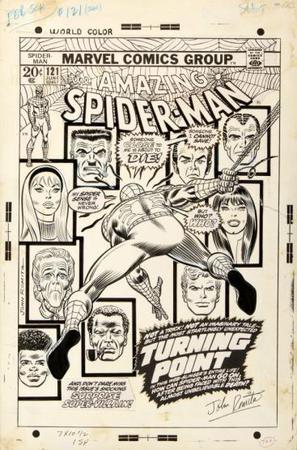 Disegno di John Romita per la copertina di Amazing Spider-Man 121