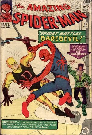 Amazing Spider-Man #16 - Copertina di Steve Ditko.