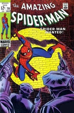 Amazing Spider-Man n.70, marzo 1969, cover di John Romita