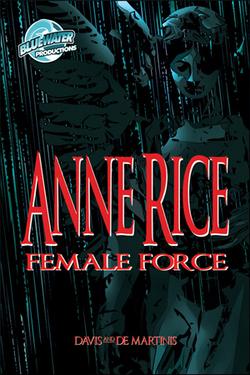 La copertina del fumetto/biografia di Anne Rice