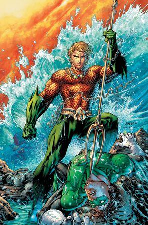 Aquaman in una tavola di Jim Lee da Justice League #4 (febbraio 2012)