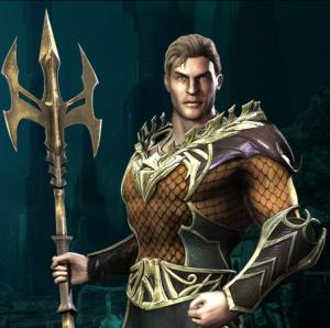 La versione di Aquaman apparsa nel videogame Injustice: Gods Among Us (2013)
