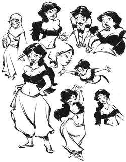 Studio per un personaggio del romanzo illustrato