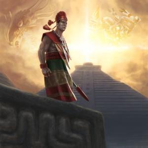 La stupenda copertina di Aztlan. Vi alleerete con i vostri avversari o li sacrificherete al vostro dio?