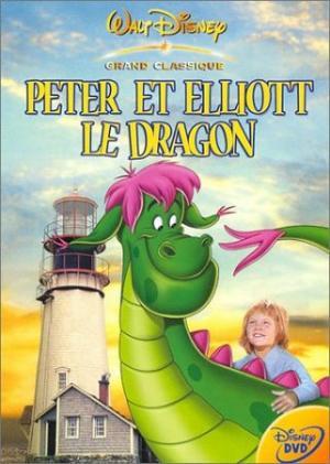 La cover francese del DVD di Eliott il Drago Invisibile