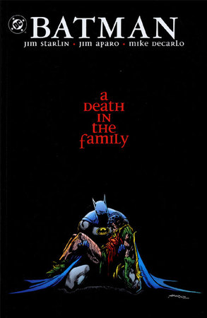 La copertina dell'edizione in volume di A Death in the Family (1988-89) illustrata da Jim Aparo