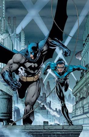 Batman e Nightwing sulla copertina di Batman #615 (luglio 2003), ottava parte dell'arco narrativo Batman: Hush, illustrata da Jim Lee