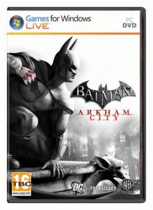 La cover della versione pc di Batman Arkham City