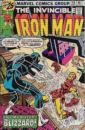 Blizzard contro Iron Man. Cover di Bob Layton