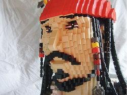 Jack Sparrow fatto con i LEGO