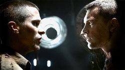 Christian Bale e Sam Worthington sul set di Terminator