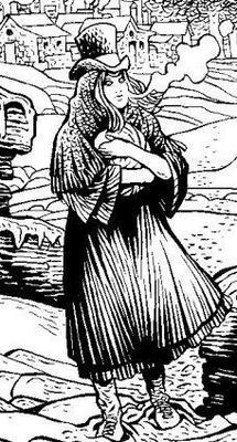 Zeferina, disegno di Roberto Bonadimani (partic.).
