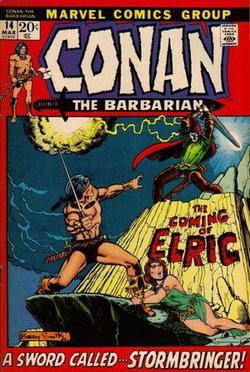 Elric contro Conan il Barbaro. Copertina di Barry Windsor Smirh.