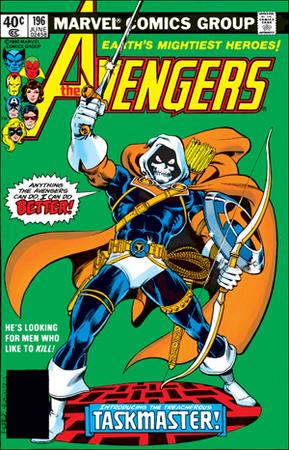 Taskmaster nella cover di Avengers 196