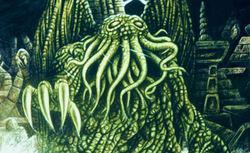 Cthulhu, divinità immaginaria dei racconti di Lovecraft