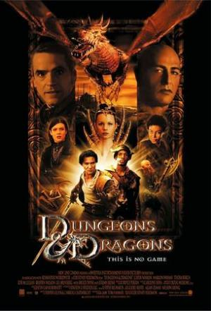La locandina originale del film Dungeons and Dragons.