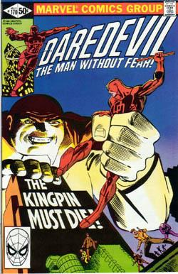 Daredevil 170 - Cover di Frank Miller