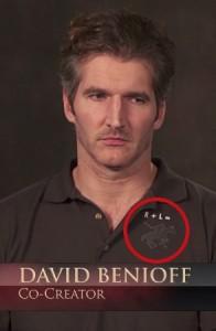 David Benioff con una maglietta un po' particolare.
