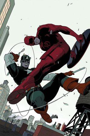 Capitan America contro Daredevil in un disegno di Paolo Rivera.
