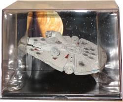 Millennium Falcon: modellino con teca 11.5×9x8.5