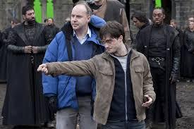 David Yates e Daniel Radcliffe durante I doni della morte 2