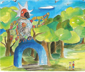Illustrazione di Emanuele Carosi per Il giardino dei Tarocchi