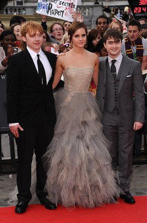 Rupert Grint, Emma Watson e Daniel Radcliffe alla premiere londinese dei Doni della Morte - Parte II