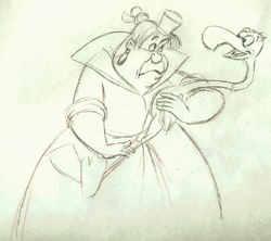 Una cattiva per antonomasia, la Regina di Cuori, disegnata da Eric Larson, storico disegnatore Disney