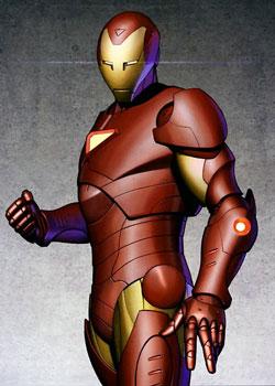 L'armatura di Iron Man in Extremis. Disegno di Adi Granov