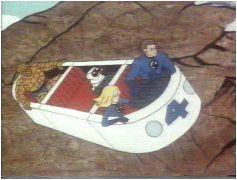 La Fantasticar nel vecchio cartone animato degli FQ. Al posto della torcia c'è il robot Herbie. Avevano paura che i bambini si dessero fuoco per emulazione