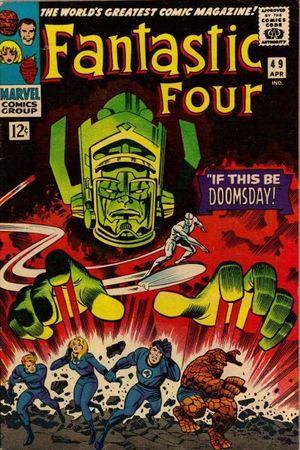 Fantastic Four 49. Disegno di Jack Kirby.