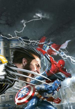L'artwork utilizzato per la copertina italiana di Marvel: La grande alleanza