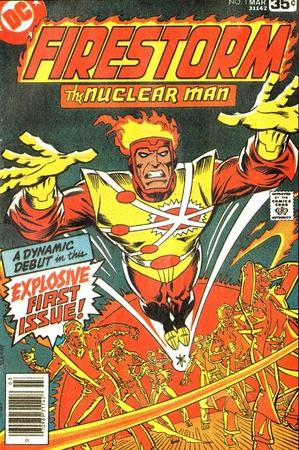 La copertina di Firestorm #1 (marzo 1978) illustrata da Al Milgrom