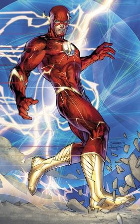 L'ultima versione del costume di Flash, disegnato da Jim Lee