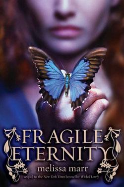 Copertina di Fragile Eternity, in uscita il 21 Aprile 2009, pubblicato dalla HarperCollins.