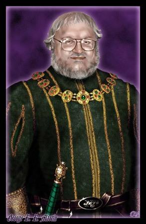 Un ritratto scherzoso di George R.R. Martin (da www.bwbfanclub.com)