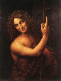 Giovanni Battista nel famoso dipinto di Leonardo Da Vinci