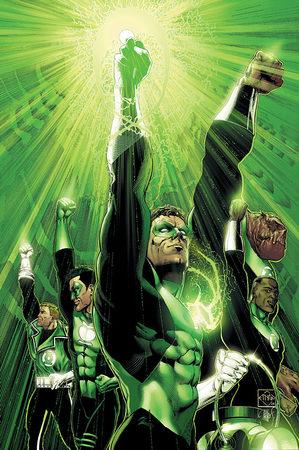 Il Corpo delle Lanterne Verdi sulla copertina di Green Lantern: Rebirth #6 (maggio 2005) di Ethan Van Sciver