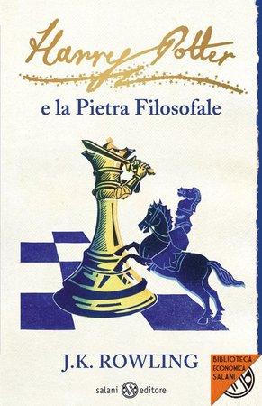 la copertina della nuova edizione tascabile di Harry Potter e la pietra filosofale, Salani editore